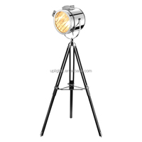 BEST PRICE new arrival high quality home good decoration antique metal/wooden tripod floor lamp for home decor
