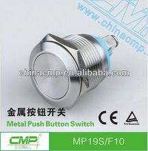 CMP 19mm Stainless steel waterproof momentary mechanical push-button switch ip67,anti-vandal push-button(AC/DC)