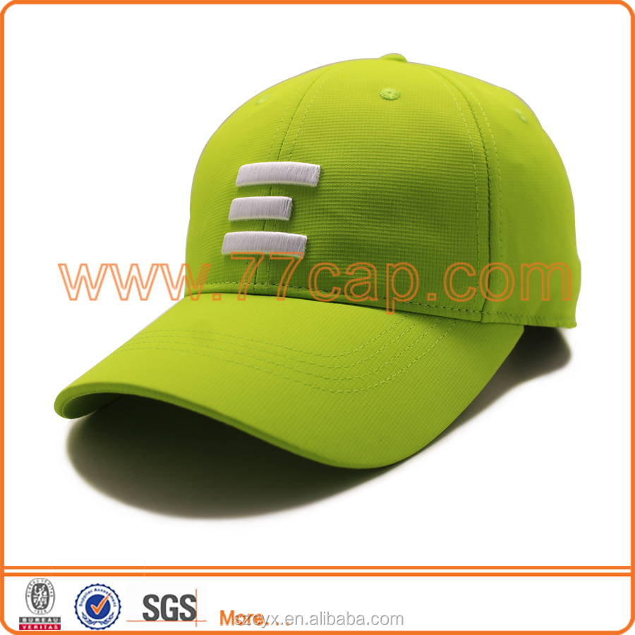 2016 OEM Customized 3D Embroidery 6 Panels Dry Fit Lemon Green Snapback <strong>Caps</strong> and Hats