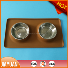silicon rubber suction cup pet bowl personalized dog bowl dog feeding bowl with mat