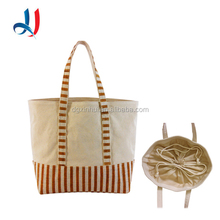 Promotional High Quality Jute Canvas Plain Drawstring Bag Eco-friendly Large Capacity Shopping Bag In Packaging Bag