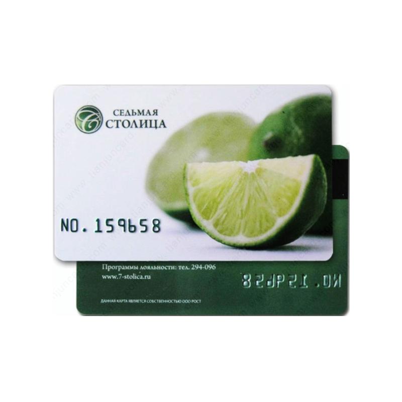 Vente chaude Carte de Crédit Taille Standard PVC Carte