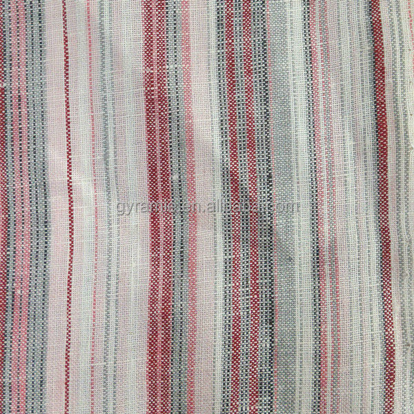 New Popular Yarn Dyed 100% Flax Fabric For Clothes
