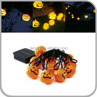 outdoor solar halloween decoration light 10/20/30 Led pumpkin Shape for garden (JL-7543)