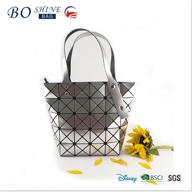 Latest Fashion Custom Wholesale Lady Hand Bag Elegance PU shiny sequined fashion handbag