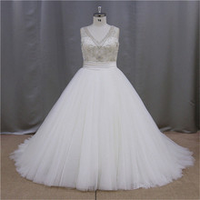 Luxury Rhinestone ruffed one shoulder plus size wedding gowns