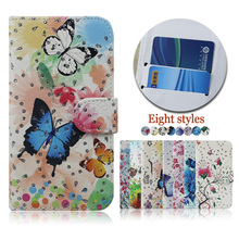 Wholesale color printing crystal diamond case cover for BLU Life One X2 Mini , flip leather case for BLU Life One X2 Mini