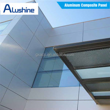 Nano-PVDF wall cladding system ACP building external wall facade aluminum composite panel