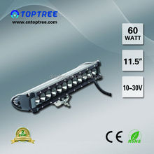 11.5'' 21.5''60w 120w single row 4x4 Off roadecco led light bar for truck SUV dune buggy rack desert