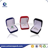 Hot selling colorful velvet jewelry packaging box