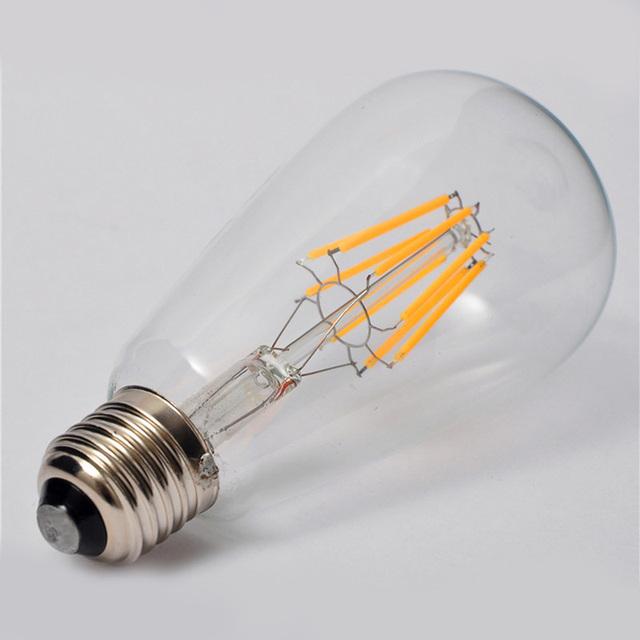 Old Fashioned Filament Lighting Bulbs Filament LED Bulbs E27/E26/B22 ST64