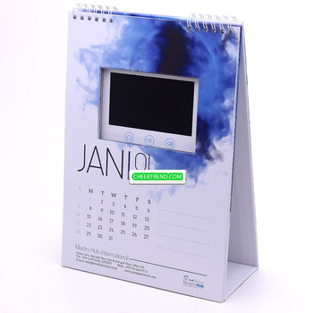 4.3 inch lcd screen 2018 video calendar