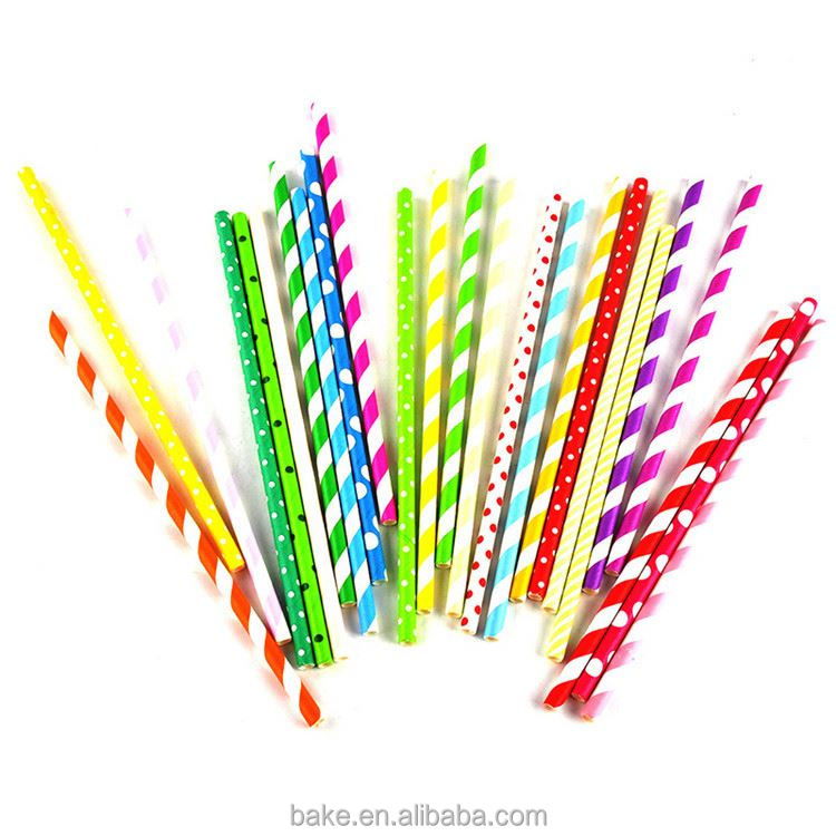 Latest arrival different types sterile wedding paper straw