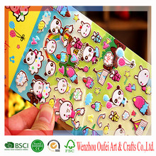 high quality lovely 3d cartoon bubble puffy sticker