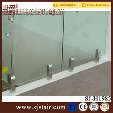 Interior duplex 2205 stainless steel square core drilled glass spigot for stair hand railing