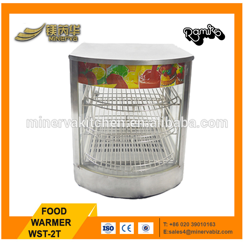 Counter top mini /professional kitchen equipment/food warmer with glass dish
