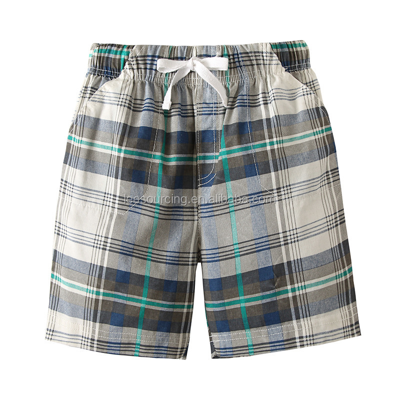 Europe style baby boy plaid shorts fashion kids beach wear casual shorts wholesale