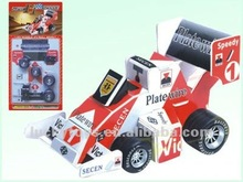 8styles mixed 3D puzzle pull back F1 racing car