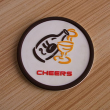 custom 3d 80mm soft pvc beer cheers promotional unbreakable cup coasters