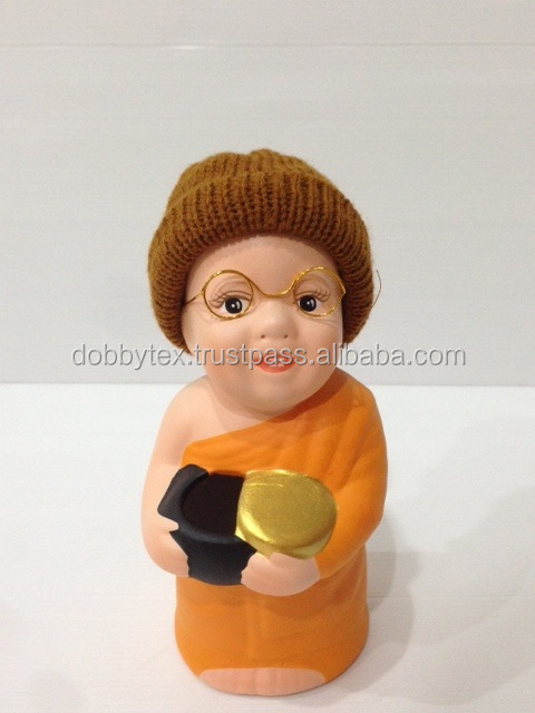 Thailand cute popular and best selling ceramic monk coin collect/bank