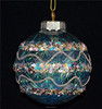 10cm transparent glass, with colorful round sequins as christmas gift craft or tree decor from shopping online websites