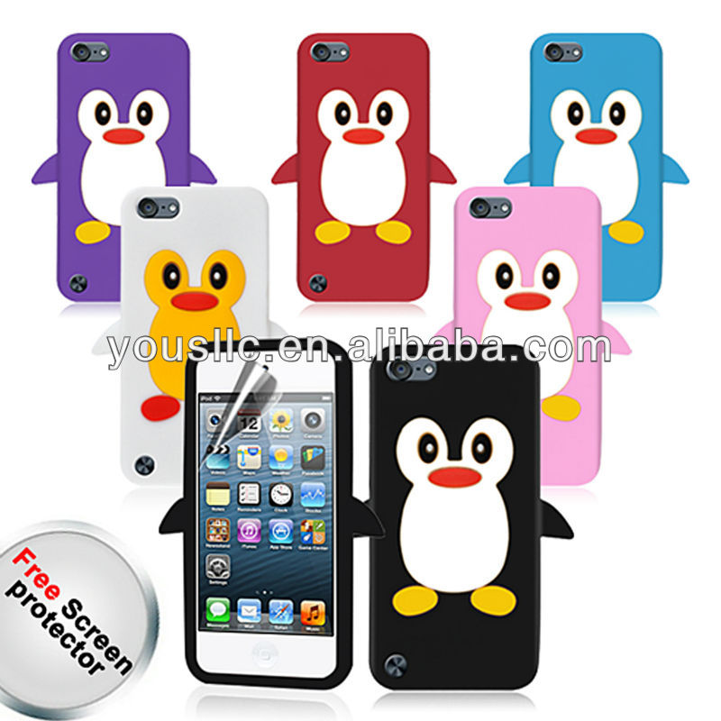 PENGUIN SILICONE SKIN CASE COVER FOR iPod Touch 5