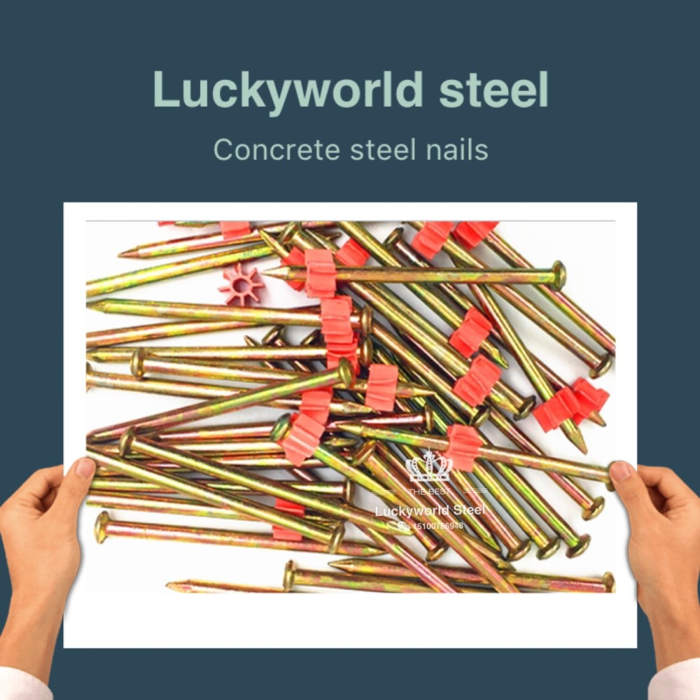 Factory direct sales yellow galvanized 3inch High-powered fastener nails