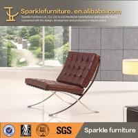 Modern good price barcelona chair in cowhide