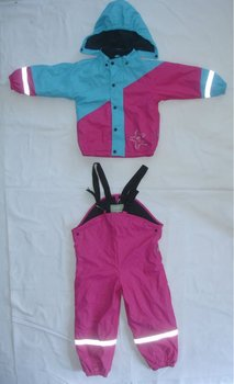 Otex-100,BSCI ,PU children rainsuit