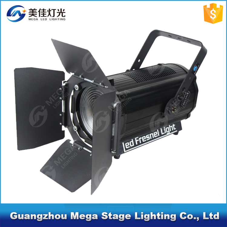 Warm white color barndoor 200w linear fresnel lens led stage lighting