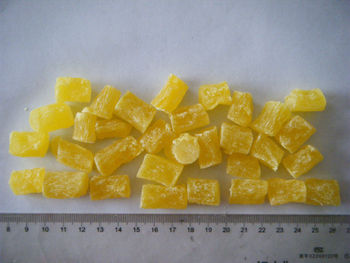 hot sale preserved/ dried pineapple dice with 55-65% sugar