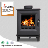 2016 Modern Design Steel Plate Wood Stove HiFlame 5KW Mini Wood Burning Fireplace HF905US
