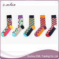 Wholesale 2017 Fashion Mens Dress Cotton Socks / High Quality Happy Knitted Socks