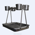 Wholesale Durable Stainless Steel Table Stand Parrot Play Stand Bird Metal Play Stand With Feeders