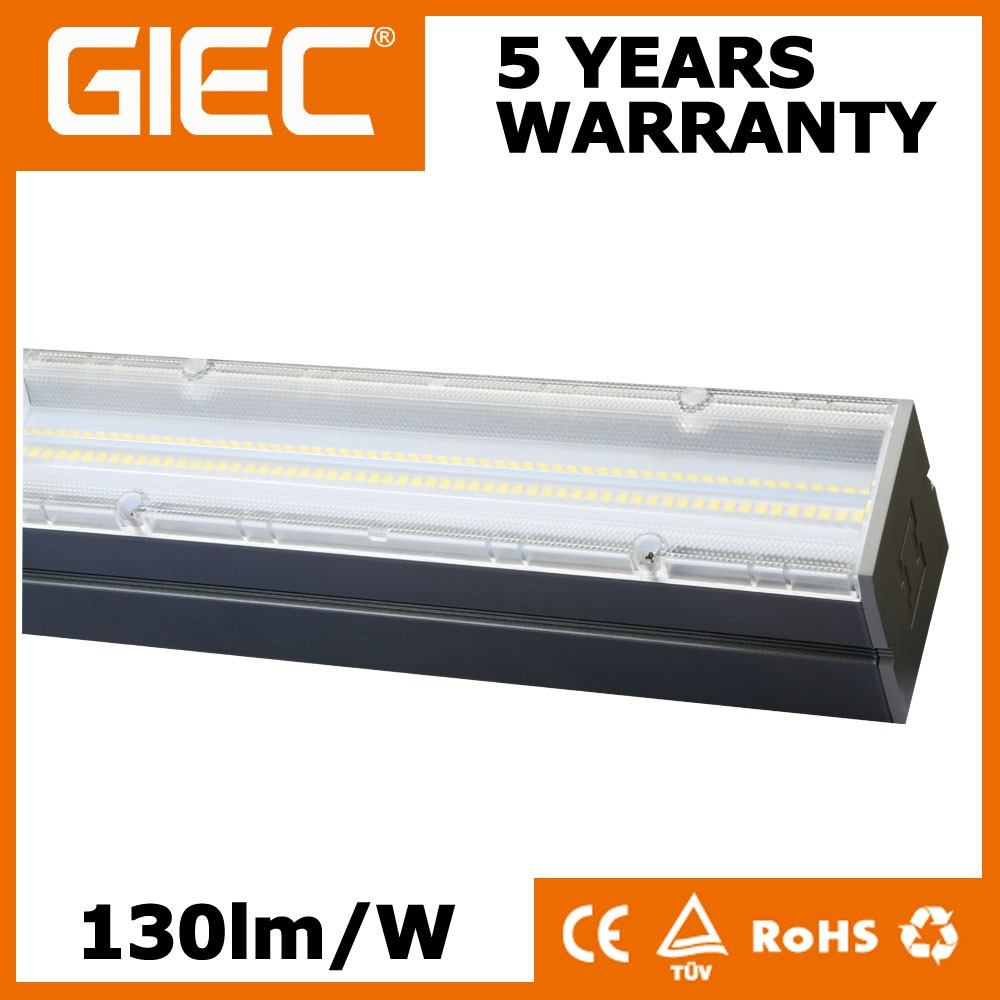 Linkable Linear Light 130lm/W 40w 60w 75w Seamless Connection LED Warehouse Lights