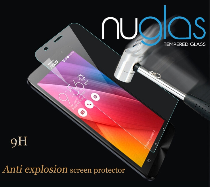 Best price 99% transparents explosion proof Nuglas tempered glass screen protector for Asus Zenfone 2