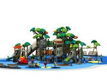 Outdoor plastic playset playground structure for community park