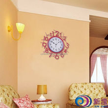 Home Decoration Luxury Wall Mounted Cast Wrought Iron Metal Modern Wall Clock Decor