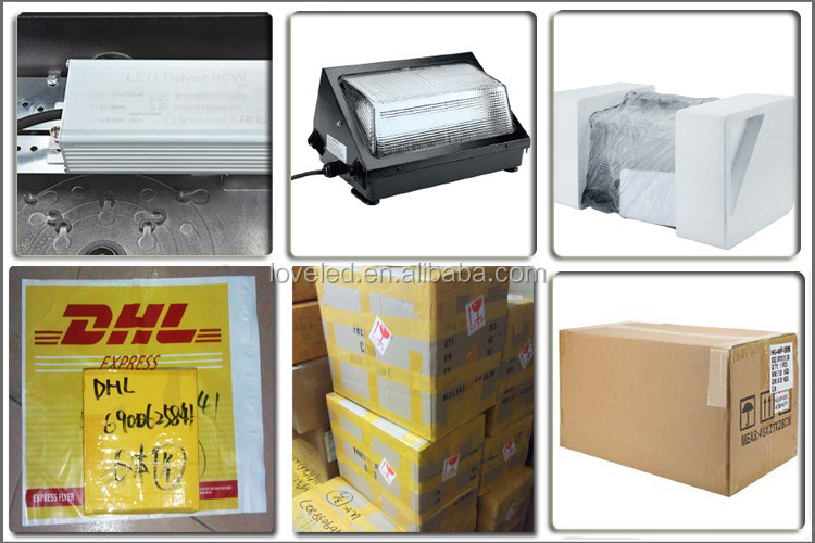 ETL DLC Listed SMD 40W 110-265V Meanwell Driver LED Wall Pack