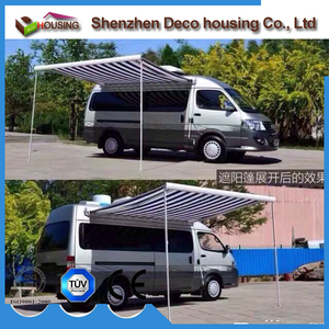 Factory directly sell inflatable caravan awning folding retractable car electric rv awnings picture
