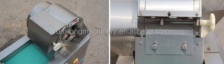 Good stainless steel vegetable chips making machine / vegetable cube cutting machine