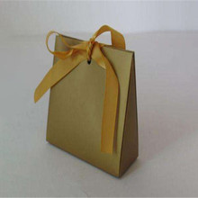 Cool small sealable paper gift bag with ribbon tie bow