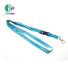Hot Sales Customized New Design Blue Polyester Brand Printed Lanyards With Plastic Buckle