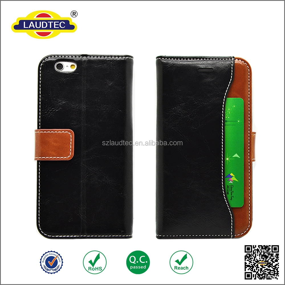 High Quality crazy horse leather case For iPhone 6 Wallet Case With Credit Card Slot