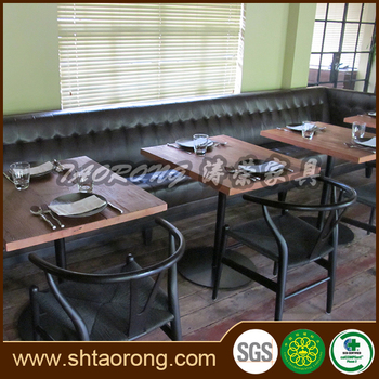 Modern design high level restaurant furniture booth seating set RS-002