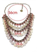 2017 amazon hot sale vintage bohemian four layered coin statement necklace for men and women