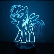 USB Novelty Gifts 3D Desk Table Lamp as Home Decoration 7 Colors Changing Unicorn Horse Led Night Lights