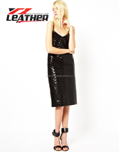 OEM custom 2014 manufacturer Wholesale Mini Leather Dress With Lace Applique Lady lastest women dress