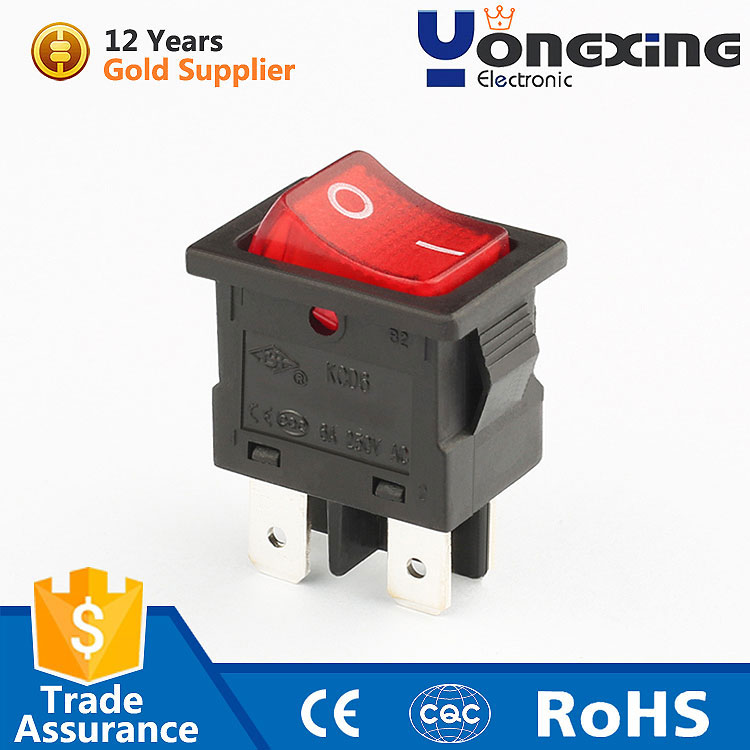 Arc-Shaped 2 position boats cars homes 10x10 tactile 16 amp 25a 12v 24v rocker switch