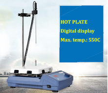 "LED Digital Hotplate / 550C <strong>Max</strong>. Hot Plate with 7"" x 7"" Ceramic Surface TCH-HP-550S"